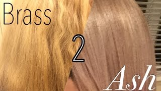 getlinkyoutube.com-From Brass to Ash: Toning my blonde hair silver