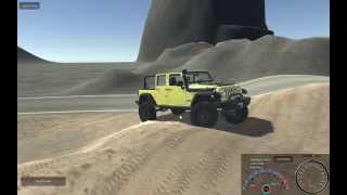 getlinkyoutube.com-Unity Realistic Vehicle Physics - Jeep Wrangler Test