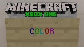 getlinkyoutube.com-Minecraft Xbox One: SECRET COLORED TEXT ON SIGNS! Easy Tutorial