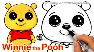getlinkyoutube.com-How to Draw Disney Winnie the Pooh Bear Cute and Easy