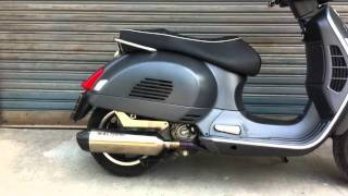 getlinkyoutube.com-Malossi exhaust Vespa GTS300SS