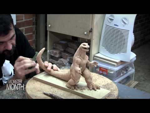 HOW TO SCULPT AN ATOMIC MONSTER GODZILLA - PART 2 - MONSTER MONTH - DAY 21