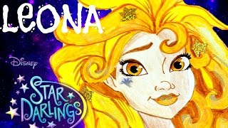 Disney STAR DARLINGS Leona. Speed Drawing and Decorating of the Doll Character