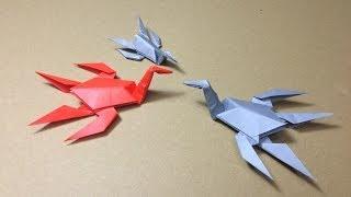 getlinkyoutube.com-【折り紙(おりがみ)】 恐竜 プレシオサウルスの折り方 作り方