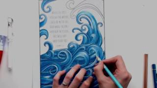 getlinkyoutube.com-Coloring Tutorial: Adding white highlights using a white gel pen