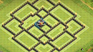 getlinkyoutube.com-Clash of Clans: NEW ANTI 3-STAR Townhall 9 War Base ll Centralized CC ll Mid-February Edition