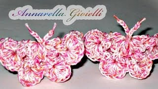 getlinkyoutube.com-Tutorial - Farfalla all'uncinetto ( crochet butterfly )
