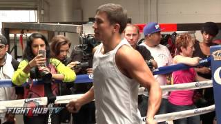 getlinkyoutube.com-Gennady Golovkin vs. David Lemieux full video- Golovkin Complete workout video