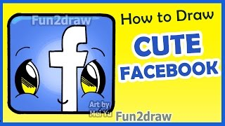 getlinkyoutube.com-How to Draw a Facebook Icon Step by Step - Fun2draw