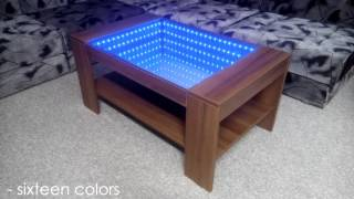 getlinkyoutube.com-Infinity Mirror Coffee Table (self made)