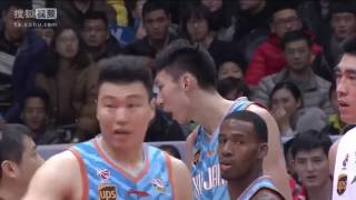 Hamed Haddadi chokes Zhou Qi | China Basketball Fight