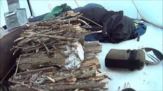 getlinkyoutube.com-2015 ECR Kifaru tipi/stove and bushcraft 5 day winter outing.
