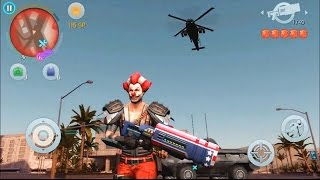 getlinkyoutube.com-Gangstar Vegas - Most Wanted Man #3 - Clown (Tank, Fly Ride, Random kill, Helicopter)