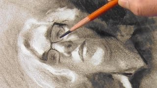 Simple steps for portrait drawing with charcoal