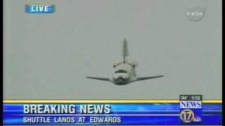 getlinkyoutube.com-Space Shuttle,  Best view of shuttle landing Ive ever seen !