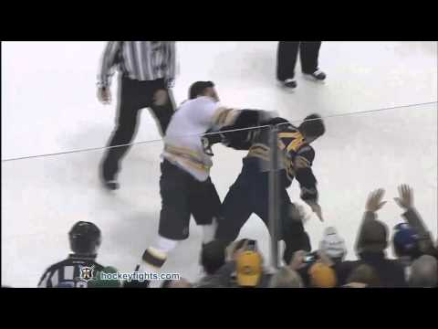 Milan Lucic vs Paul Gaustad Nov 23, 2011