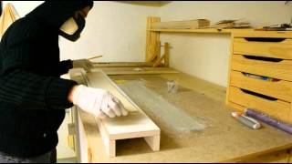 getlinkyoutube.com-How to make main spar for hollow molded wing Fabrication d'un longeron pour une aile creuse