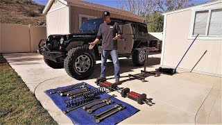 getlinkyoutube.com-Jeep Wrangler JKU Suspension UPGRADE Game Changer 6Pak DIY - Metalcloak Lift Kit