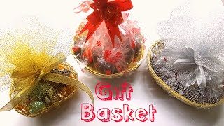 getlinkyoutube.com-How to make Chocolate Gift Basket/ DIY Gift Basket/Easy and Simple Chocolate Gift Basket at Home.