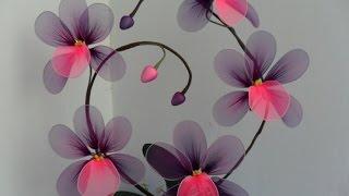 getlinkyoutube.com-Как сделать цветы из капрона.Мастер класс.