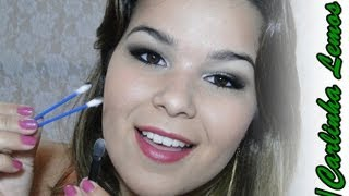 getlinkyoutube.com-Makeup Tutorial Esfumado fácil com cotonete [Carla Lemos]