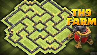 getlinkyoutube.com-Clash of Clans - NEW Update TH9 Farming BASE!! CoC Best Town hall 9 Farming BASE!! *MUST SEE*