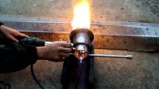 getlinkyoutube.com-Горелка на отработанном масле, для котла на водяном  отоплении.