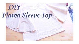 Sewing + DIY Flared Sleeve Top