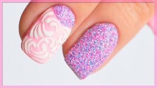 Дизайн ногтей Меланж, Мираж, Мармелад на гель-лаке. Модный маникюр. Втирка MELANGE для ногтей