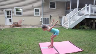 getlinkyoutube.com-Standing Back Tucks and Gymnastics with My Brother and Sister | Acroanna