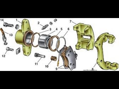 Как заменить передний тормозной цилиндр ВАЗ 2115,2114,2113,2199,2109,2108