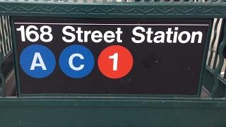 getlinkyoutube.com-MTA NYC Subway: R32, R46, R62A & R160 (1) (A) (C) Trains @ Washington Heights-168th Street