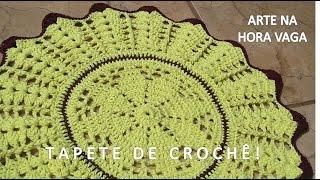 getlinkyoutube.com-Fácil - Tapete de Crochê em Barbante, redondo - Arte e Artesanato/ Passo a Passo