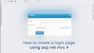 getlinkyoutube.com-How to create a login page using asp.net mvc 4