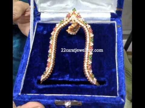 Gold Ara vanki, Vaddanam (Armlet, Waistbelt) Designs (Bridal Jewellery)