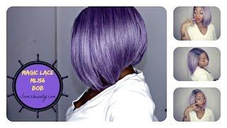 New Born Free MLC156 #BOBLIFE | Lavender/ Silver Wig Review | Samsbeauty