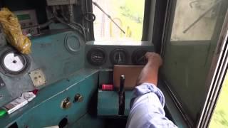 getlinkyoutube.com-[IRFCA] Inside WDM2A Loco, Loco Pilot operating the Locomotive