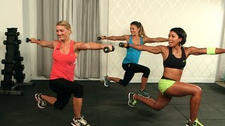getlinkyoutube.com-Belly Fat Blasting Workout, Tone Abs, Class FitSugar