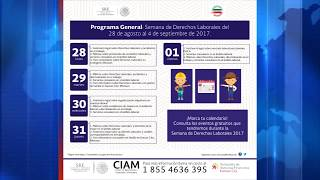 Consulado de México dio inicio con su Semana de Derechos Laborales