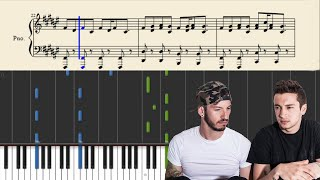 getlinkyoutube.com-twenty one pilots: The Run And Go - Piano Tutorial + SHEETS