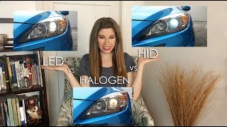 getlinkyoutube.com-LED vs HID (XENON) vs HALOGEN - HEADLIGHTS COMPARED!