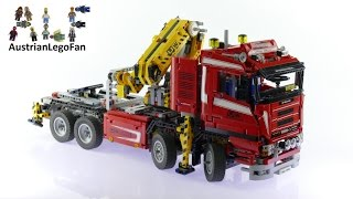 getlinkyoutube.com-Lego Technic 8258 Crane Truck - Lego Speed Build Review