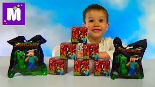 getlinkyoutube.com-Майнкрафт игрушки сюрпризы распаковка коробочек и пакетиков с игрушками Minecraft unboxing toys