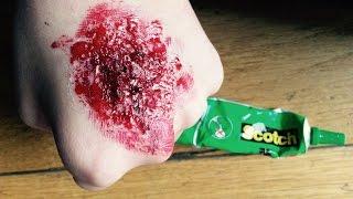 Download video comment faire des fausses griffures tuto - Comment faire une fausse blessure ...