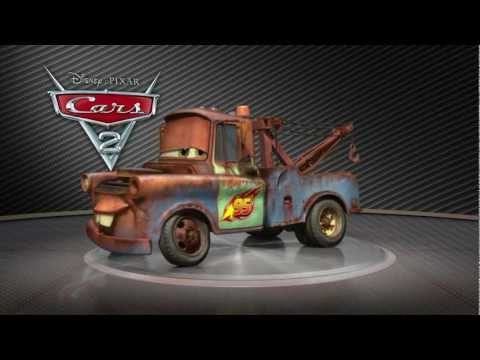 All of Disney Pixar Cars 2 Turntables cars in HD Lightning McQueen Mater