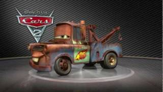 getlinkyoutube.com-All of Disney Pixar Cars 2 Turntables cars in HD Lightning McQueen Mater
