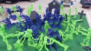 getlinkyoutube.com-101 Zombies Vs  Army Men toy review!