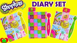 getlinkyoutube.com-Shopkins Diary Set with Clicker Pens