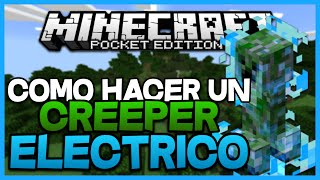 getlinkyoutube.com-Como Hacer Un Creeper Electrico Sin Mods En Minecraft PE 0.16.0 - Trucos Para Minecraft PE 0.16.0