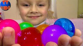 getlinkyoutube.com-ОРБИЗ - Ярослава выращивает ГИГАНТСКИЕ ШАРИКИ Видео для детей Orbeez Toy Challenge